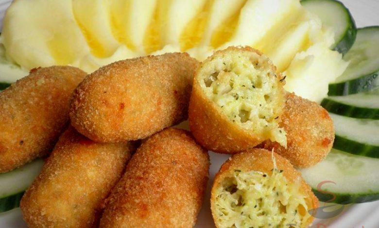 Cuketové krokety s bramborovou kaší